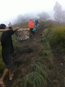Up to crater rim Sembalun