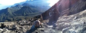 Trek down Mt Semeru