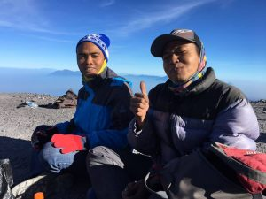 on summit mt Semeru